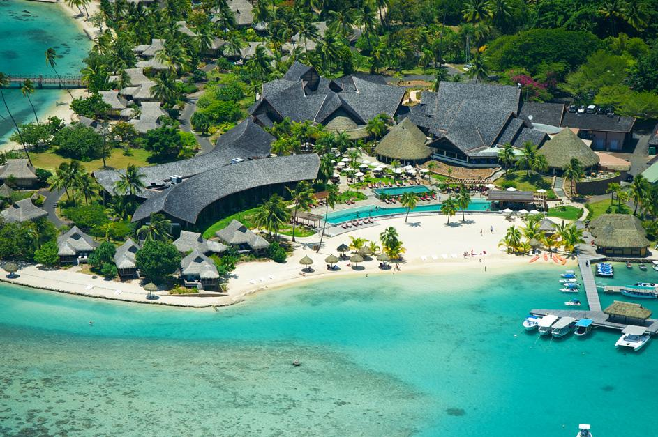 Aerial of InterContinental Moorea Resort & Spa