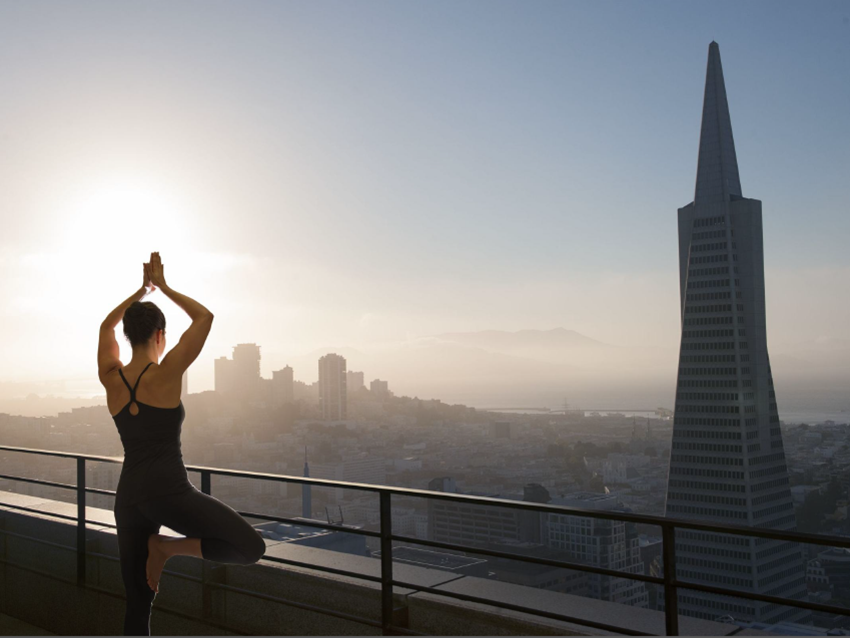 Yoga classes available on Saturdays on the Sky Deck (through October)