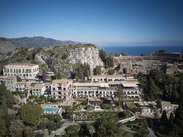 Amazing views of the hotel and the ancient Theatre of Taormina