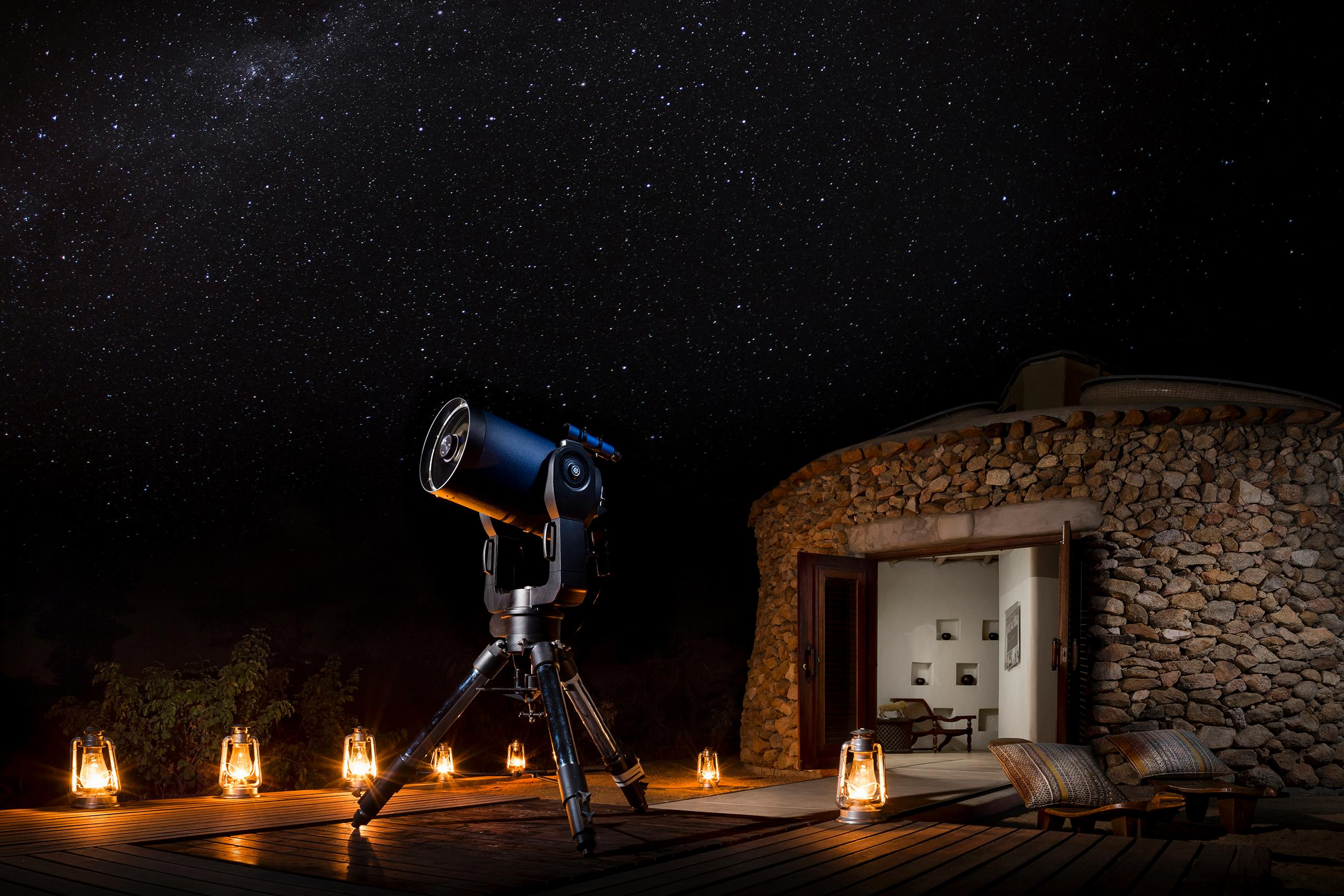 Safari Lodge stargazing