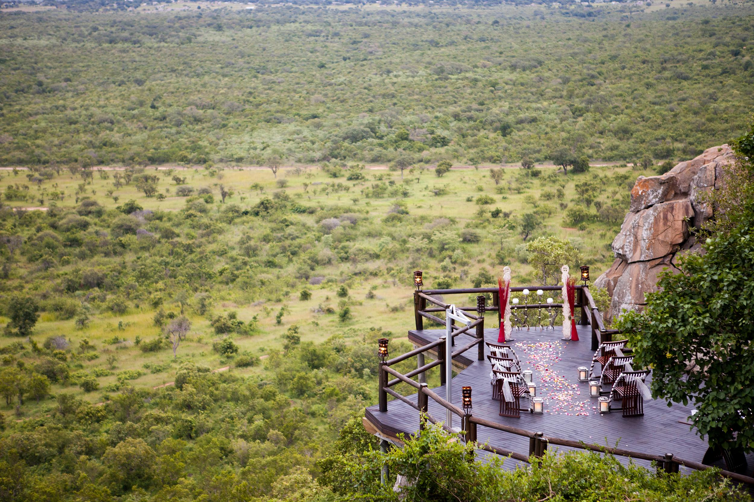 Ulusaba Wedding Ceremony Setup
