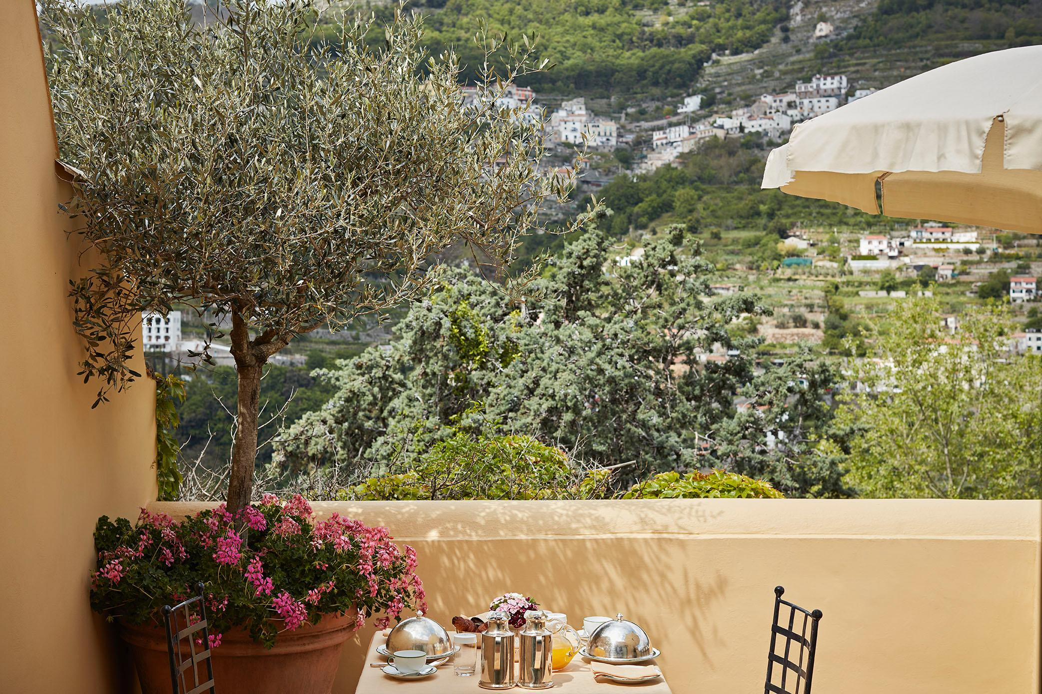 Start the morning with breakfast on your terrace