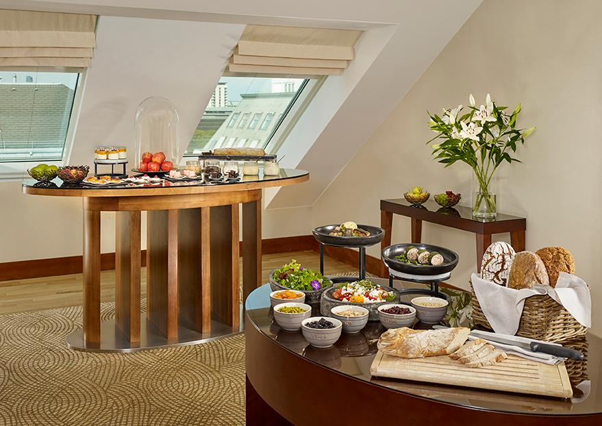 The Club Lounge features a dedicated Club Concierge, free-flowing Champagne as well as a variety of daily food presentations
