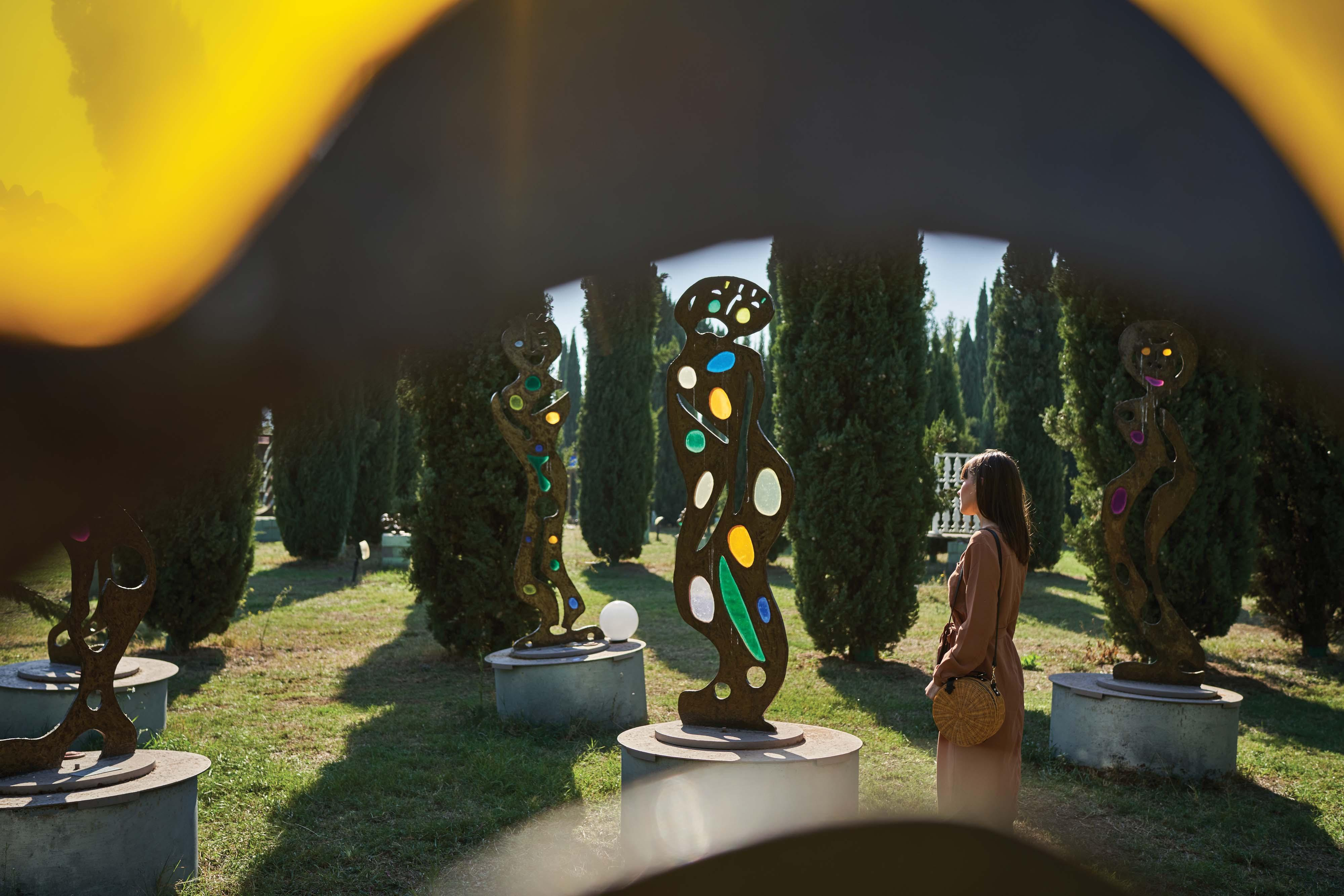 Explore the art parks of Tuscany