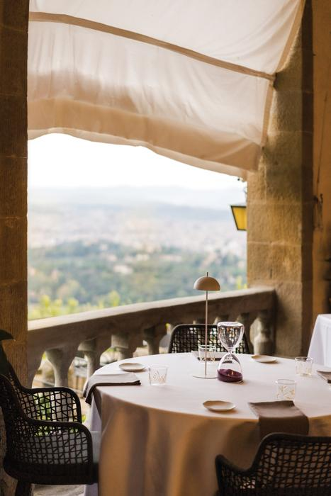 Refined modern Tuscan cuisine with a view at La Loggia