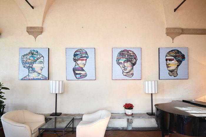 Street art and Renaissance blend in perfection on the hotel's grounds