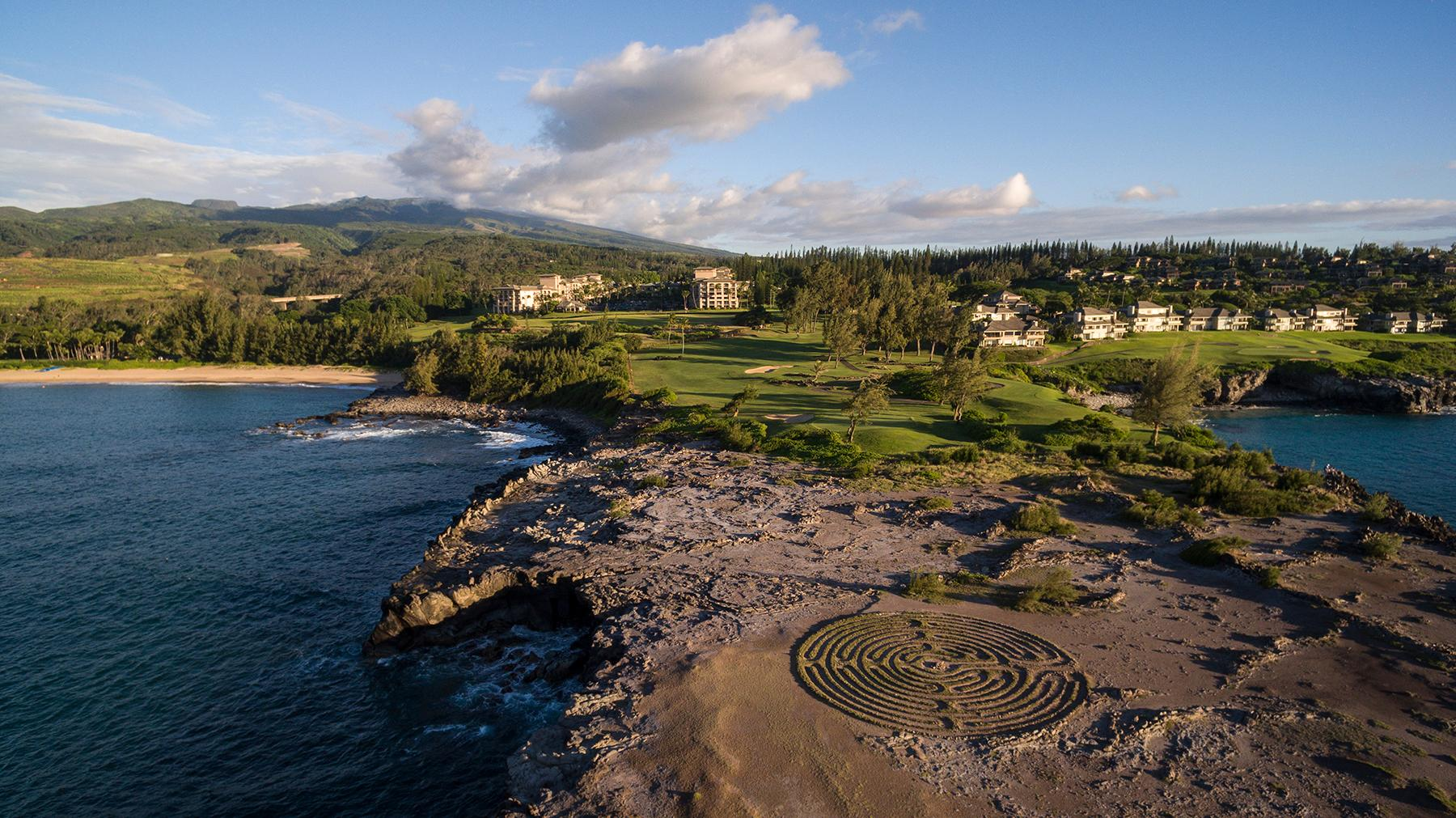 The Ritz-Carlton, Kapalua_Aerial and Labrynth