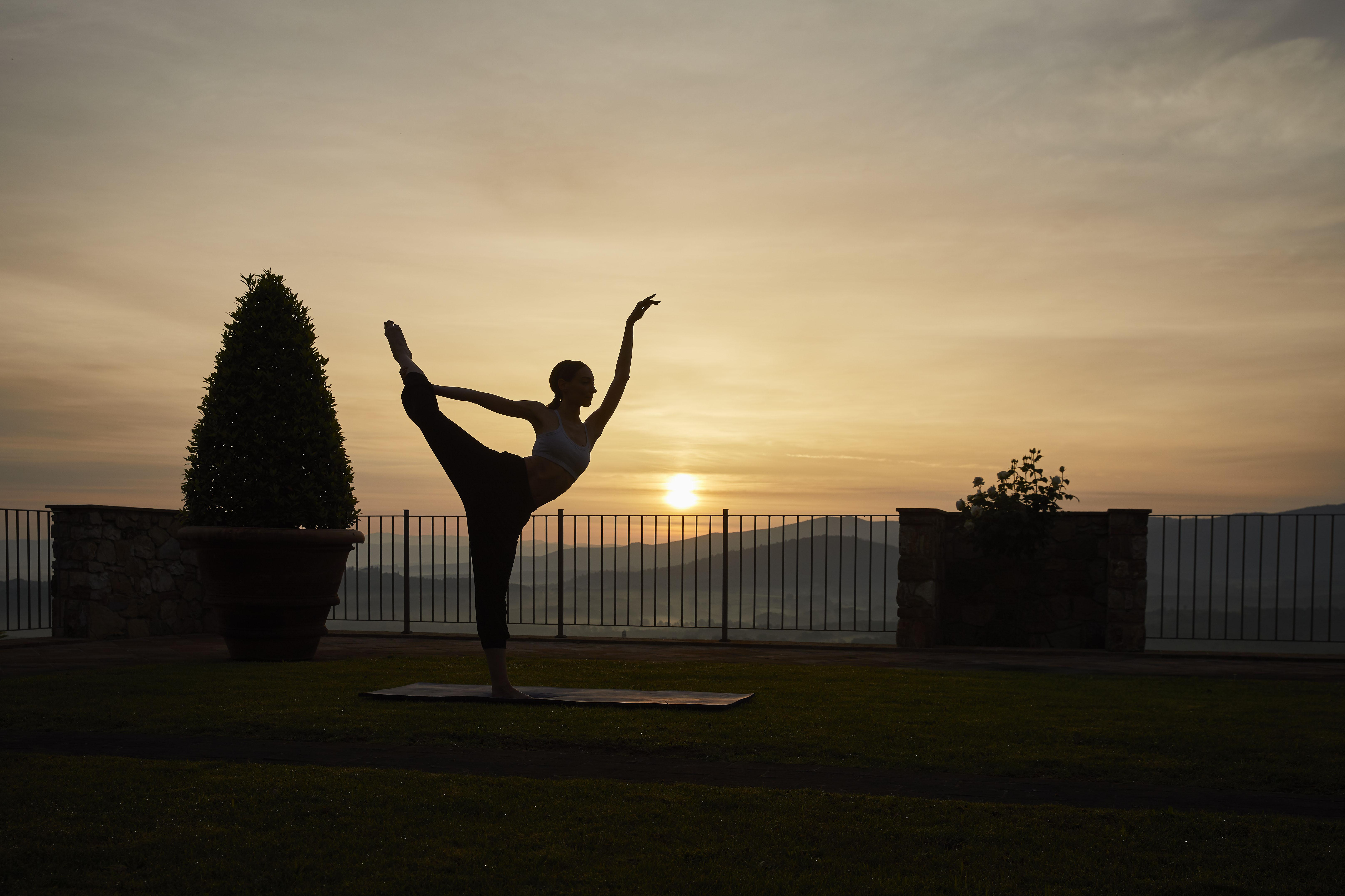Enjoy an energising yoga session at dawn in our Spa gardens